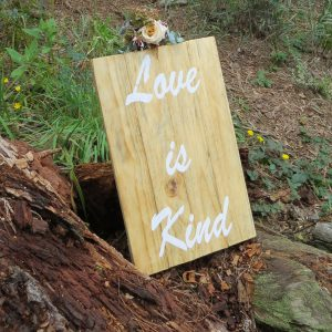 Love is kind - the path leads guests through the forest