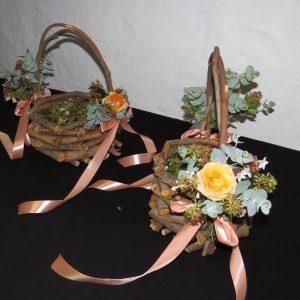Delightful flower-girl baskets