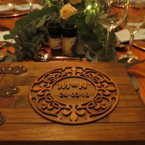 Hand-crafted wooden wedding guest book