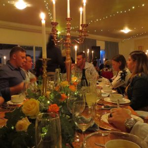 Guests enjoying the wonderful ambiance & food